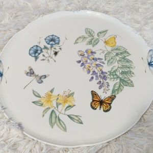 "Lenox Dining - 🎄Lenox Butterfly Meadow 14"" Round Cake Plate NWT"